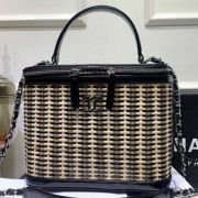 BOLSA CHANEL RATTAN VANITY CASE AS1347