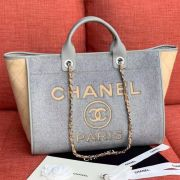 BOLSA CHANEL LARGE SHOPPING WOOL TOTE