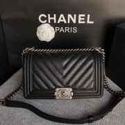 BOLSA CHANEL LE BOY CHEVRON