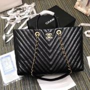BOLSA CHANEL SHOPPING TOTE CHEVRON A57974