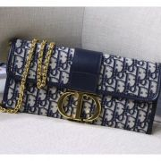 BOLSA DIOR 30 MONTAIGNE EMBROIDERED CANVAS CLUTCH