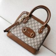 BOLSA GUCCI 1955 HORSEBIT GG SUPREME SMALL TOP HANDLE