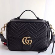 BOLSA GUCCI GG MARMONT MATELASSE TOP HANDLE 498100