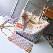 BOLSA LOUIS VUITTON NEVERFULL SUMMER TRUNKS DAMIER AZUR