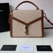 BOLSA YSL CASSANDRA CANVAS AND SMOOTH LEATHER