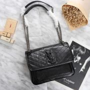 BOLSA YSL NIKI BABY IN CRINKLED VINTAGE LEATHER