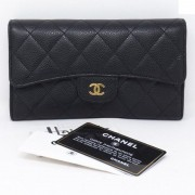 CARTEIRA CHANEL LONG FLAP CAVIAR