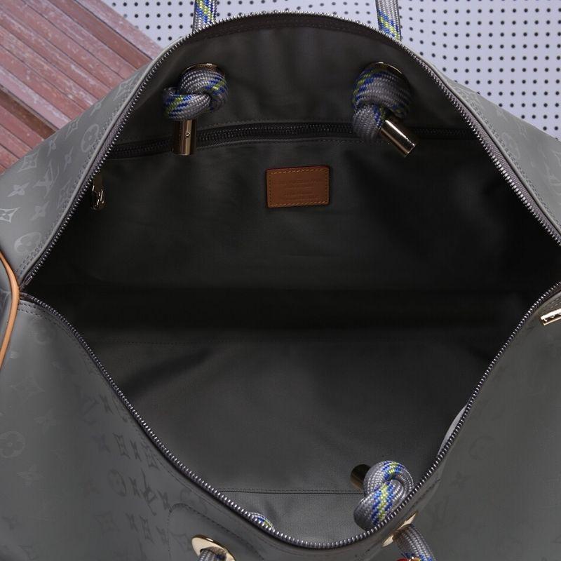 BOLSA DE VIAGEM LOUIS VUITTON KEEPALL BANDOULIERE 50 MONOGRAM TITANIUM M43886