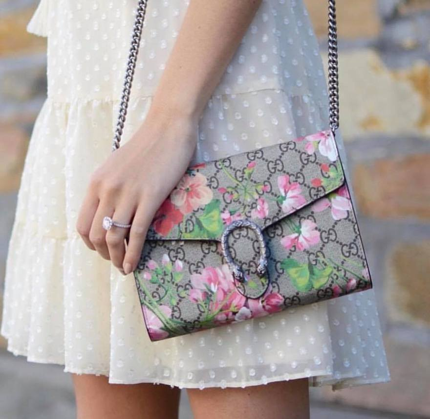 BOLSA GUCCI DIONYSUS BLOOMS MINI CHAIN