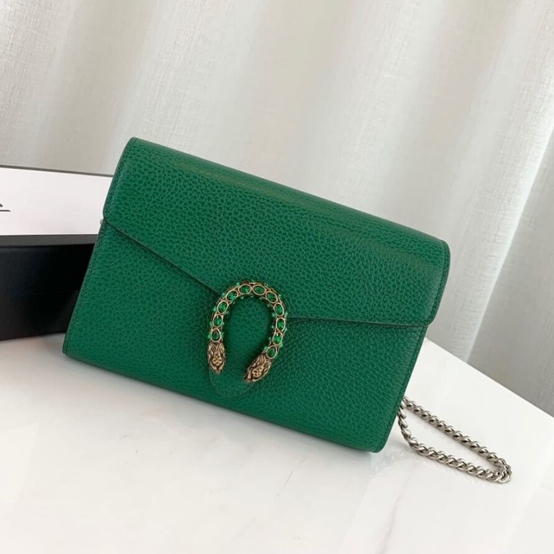 BOLSA GUCCI DIONYSUS LEATHER MINI CHAIN
