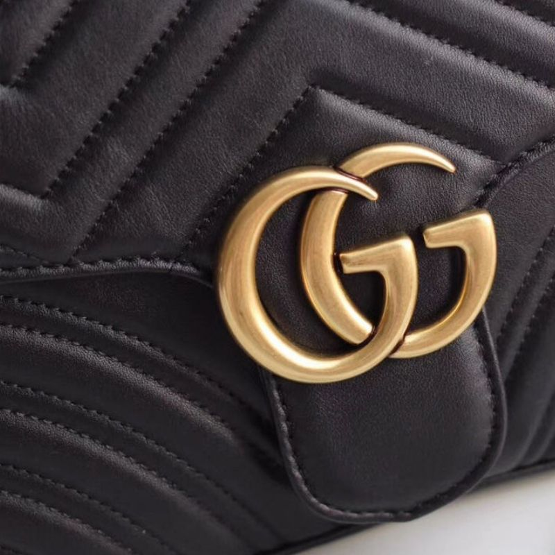 BOLSA GUCCI GG MARMONT MATELASSE TOP HANDLE 498100