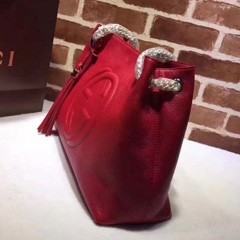BOLSA GUCCI SOHO DOUBLE CHAIN SHOULDER BAG