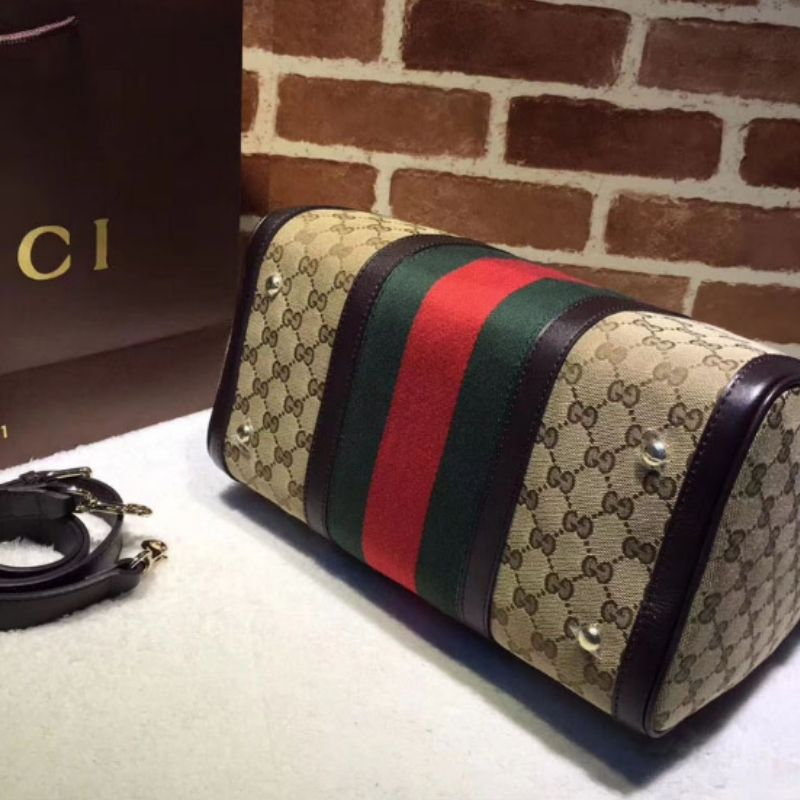 BOLSA GUCCI VINTAGE WEB ORIGINAL GG BOSTON