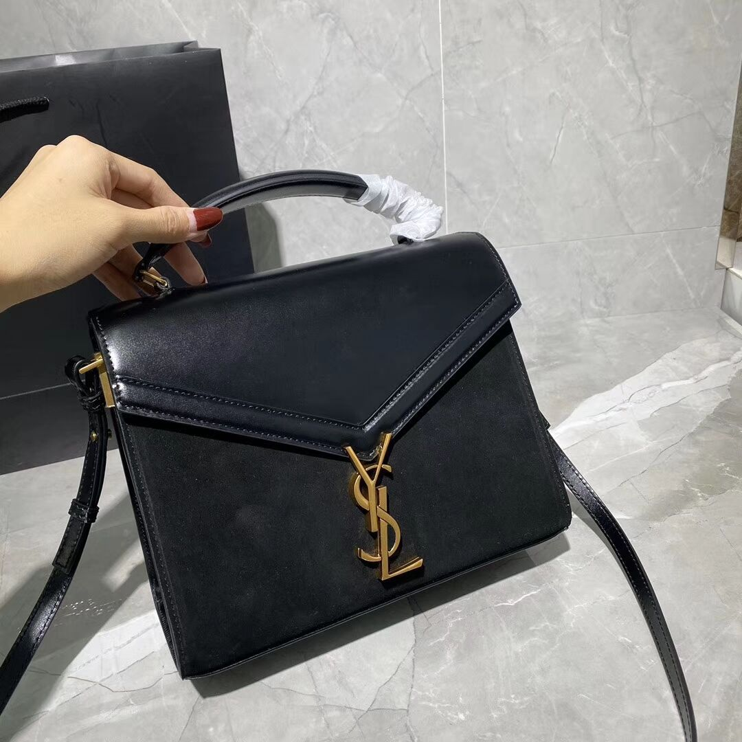 BOLSA YSL CASSANDRA SMOOTH LEATHER AND SUEDE
