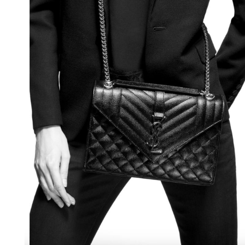 BOLSA YSL ENVELOPE ALL BLACK