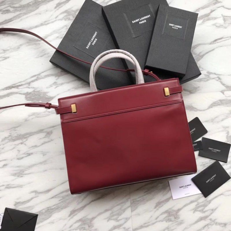 BOLSA YSL MANHATTAN SMALL SHOPPING SMOOTH LEATHER