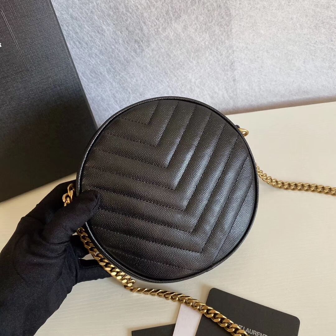BOLSA YSL VINYLE ROUND CAMERA BAG