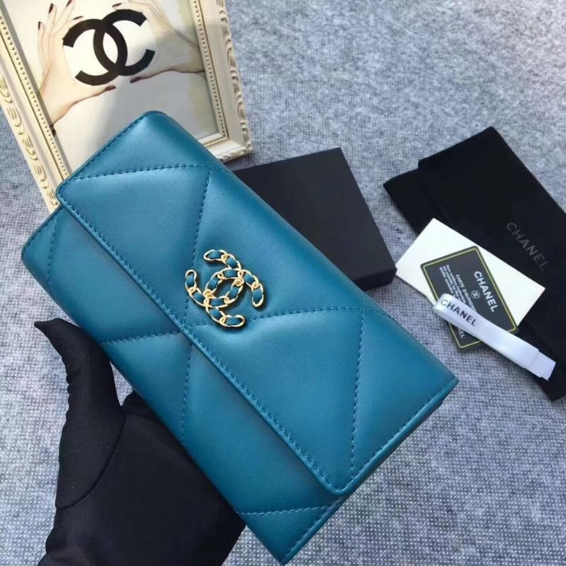 CARTEIRA CHANEL 19 LONG FLAP WALLET