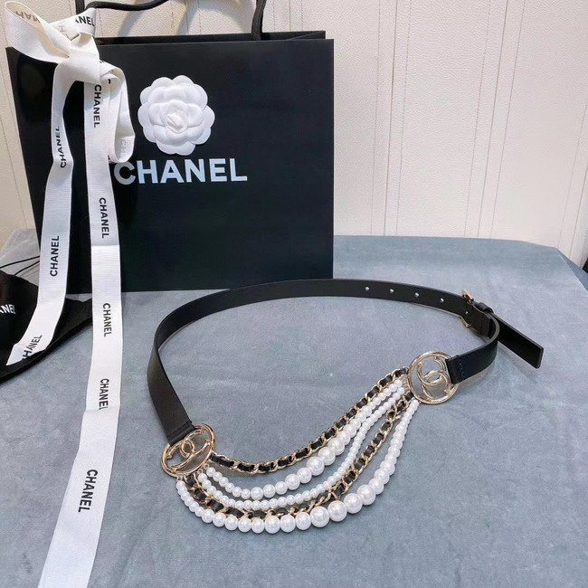 CINTO CHANEL METAL AND PEARL