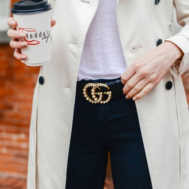 CINTO GUCCI PEARL DOUBLE G