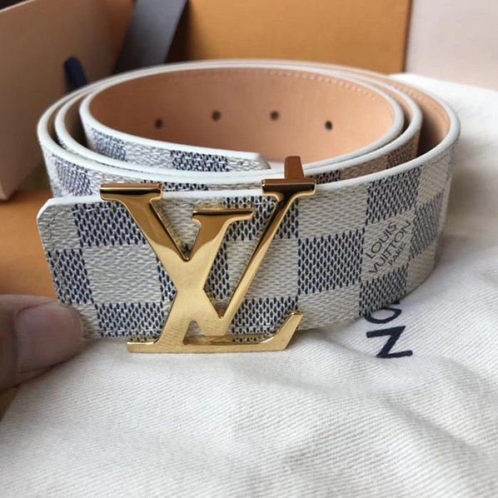 CINTO LOUIS VUITTON INITIALES DAMIER AZUR 40MM