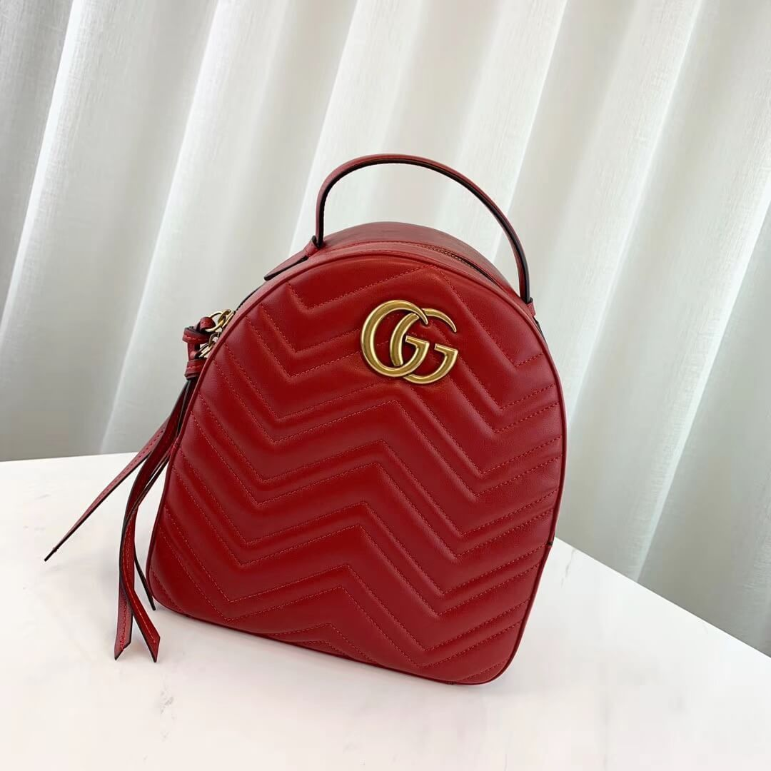 MOCHILA GUCCI MARMONT QUILTED LEATHER