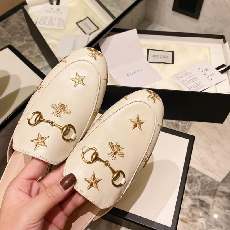 MULE GUCCI PRINCETOWN EMBROIDERED
