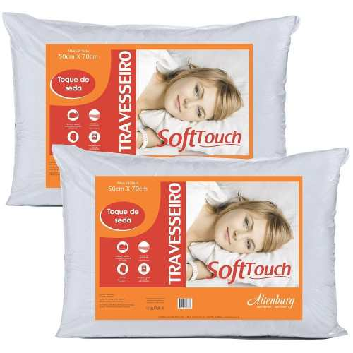 Kit 2 Travesseiros Altenburg Soft Touch Toque De Seda