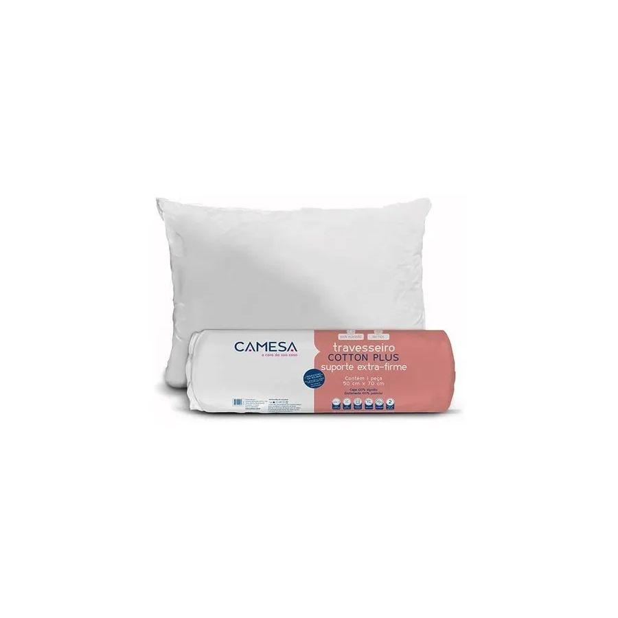 Kit 2 Travesseiro Suporte Extra-Firme 50X70Cm Cotton Plus