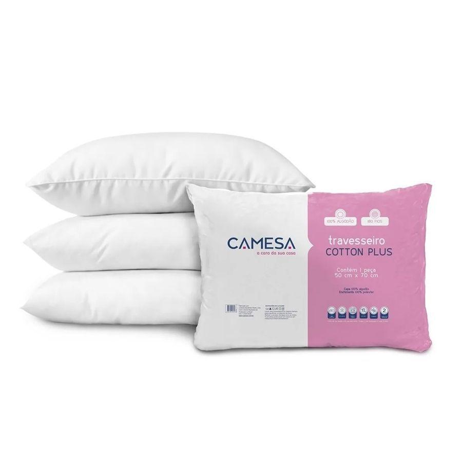 Kit 2 Travesseiro Suporte Firme 50X70Cm Cotton Plus