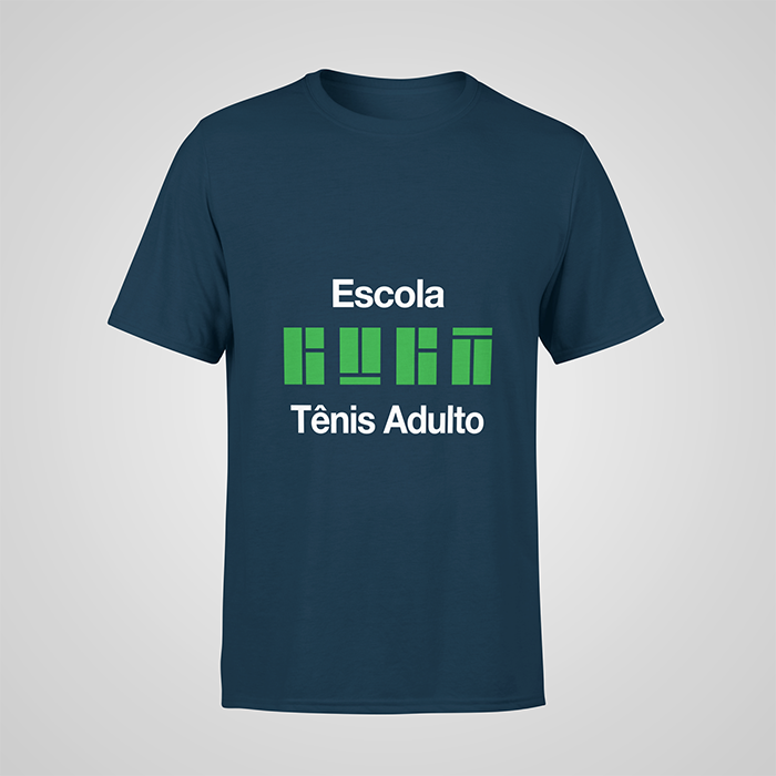 Camiseta Azul Night Tênis Adulto