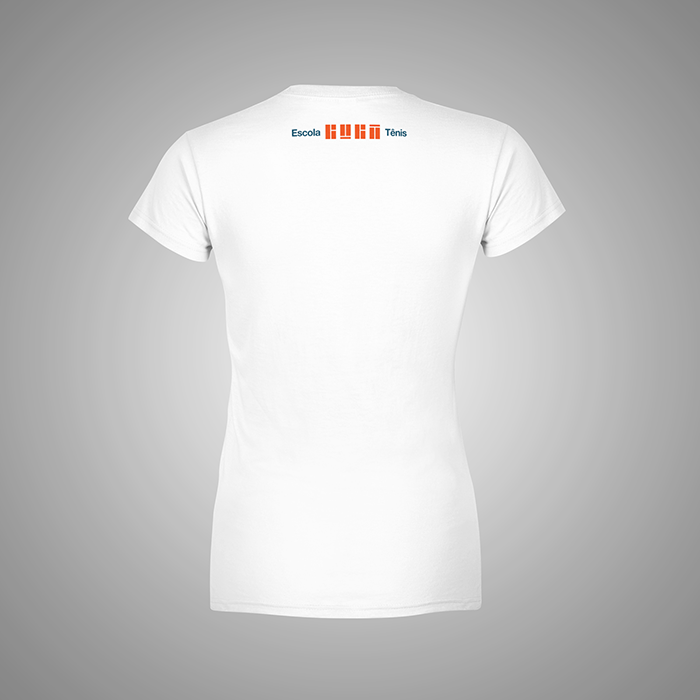 Camiseta Branca Educador Guga Tênis