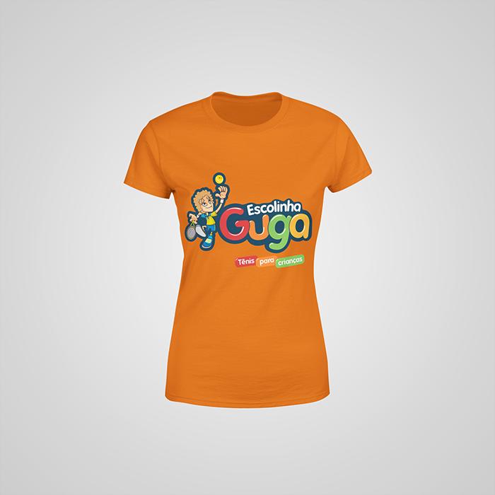 Camiseta Laranja Escolinha Guga