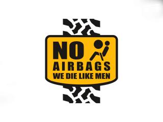 2x Adesivo No AIRBAGS | 10 x 12 cm