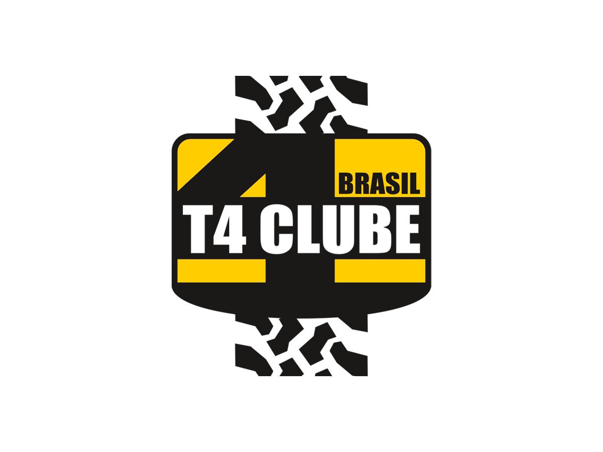 Adesivo T4 Clube Brasil | Modelo 1 | 14 x 16 cm