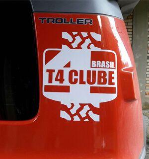 Adesivo T4 Clube Brasil | Modelo 2 | 25 x 29 cm
