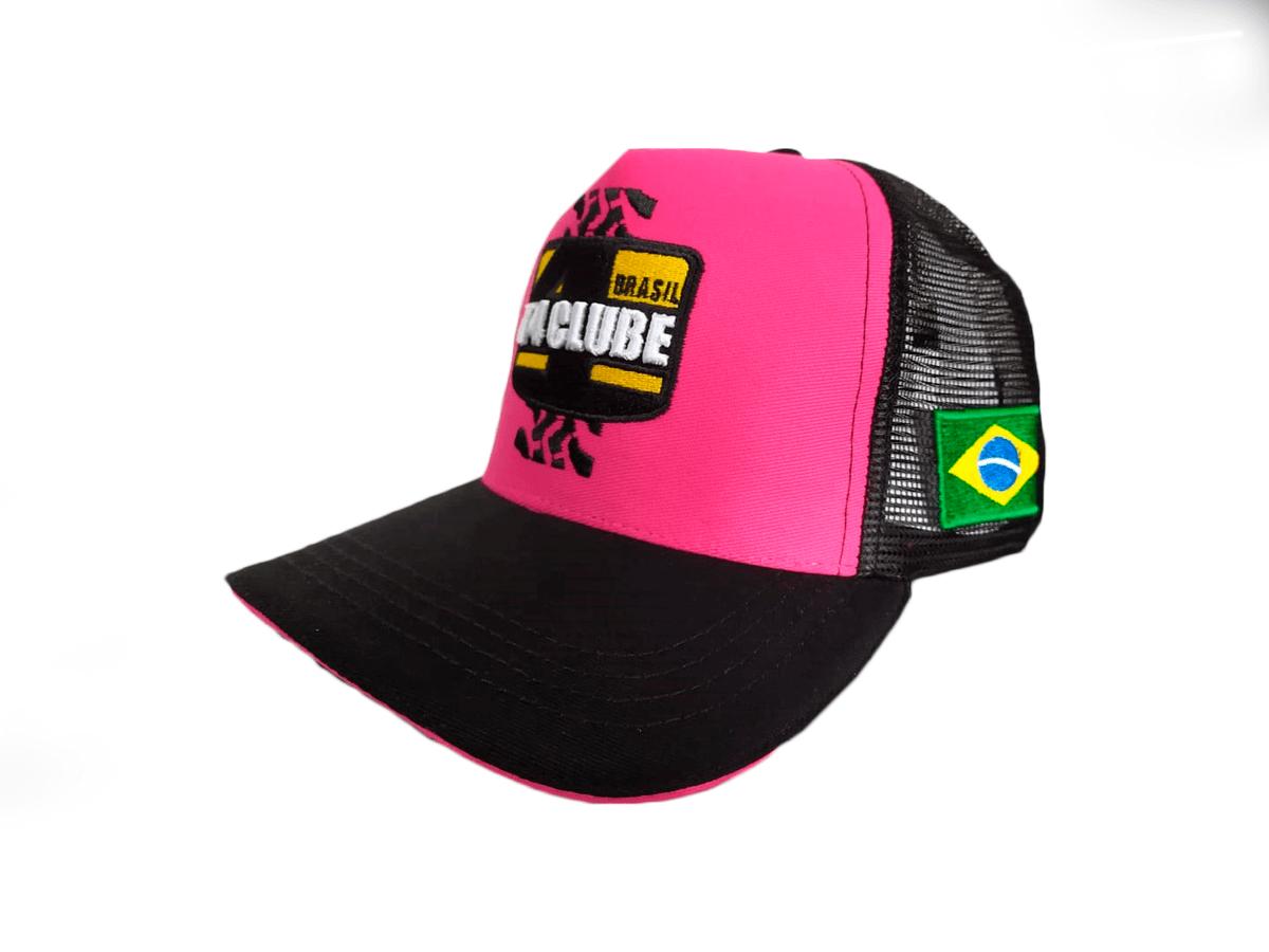 Boné T4 Clube Brasil | Modelo 3 | Adulto | Tamanho Único | Rosa