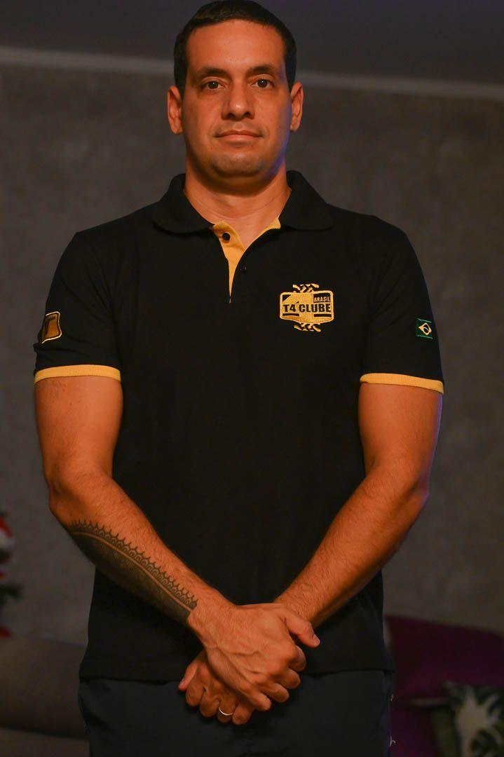 Camisa Polo T4 Clube Brasil | Modelo 2 | 50% Algodão | Masculino