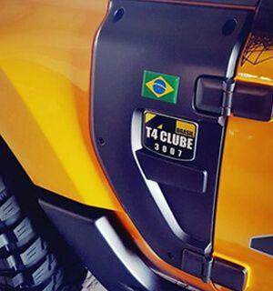 Placa Adicional Membro T4 Clube Brasil | 92 x 126 x 2mm | 3M
