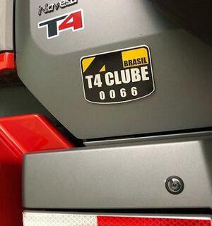 Placa Membro T4 Clube Brasil | 92 x 126 x 2mm | 3M