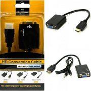ADAPTADOR HDMI PARA VGA CC/AUDIO - 25 CM
