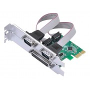 Placa Serial Rs232 Pci-e X1 2 Portas Serial Db9