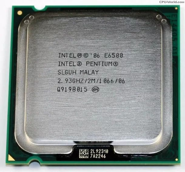 CPU 775 | PENTIUM  E6500 | SLGUH | INTEL | 2.93 GHZ