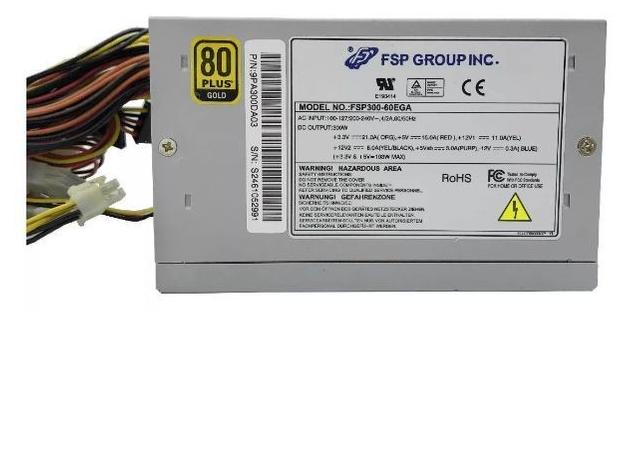 Fonte Atx 300w Real Gamer Fsp Fsp-300 Bivolt 80 Plus Gold