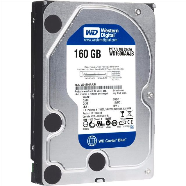 HD DESKTOP | SATA | WD160AA | WESTERN DIGITAL | 160GB | S/N