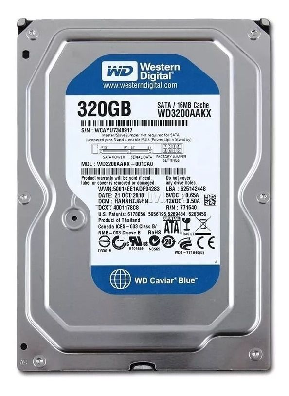 HD DESKTOP | SATA | WD3200AA | WESTERN DIGITAL | 320GB | S/N