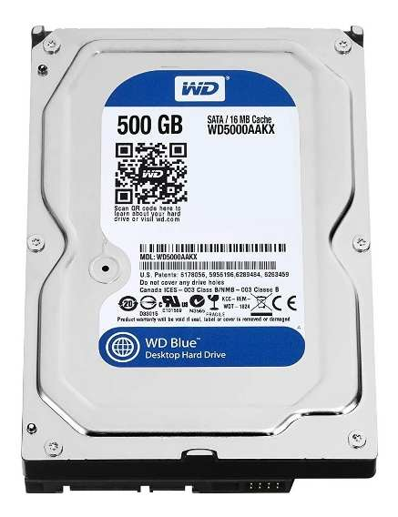 HD DESKTOP | SATA | WD5000AA | WESTERN DIGITAL | 500GB | S/N