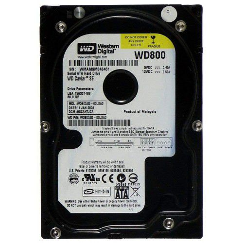 HD DESKTOP | SATA | WD800JD | WESTERN DIGITAL | 80GB | S/N