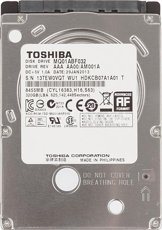 HD NOTEBOOK | SATA | MK3261GSYN | TOSHIBA | 320GB | S/N
