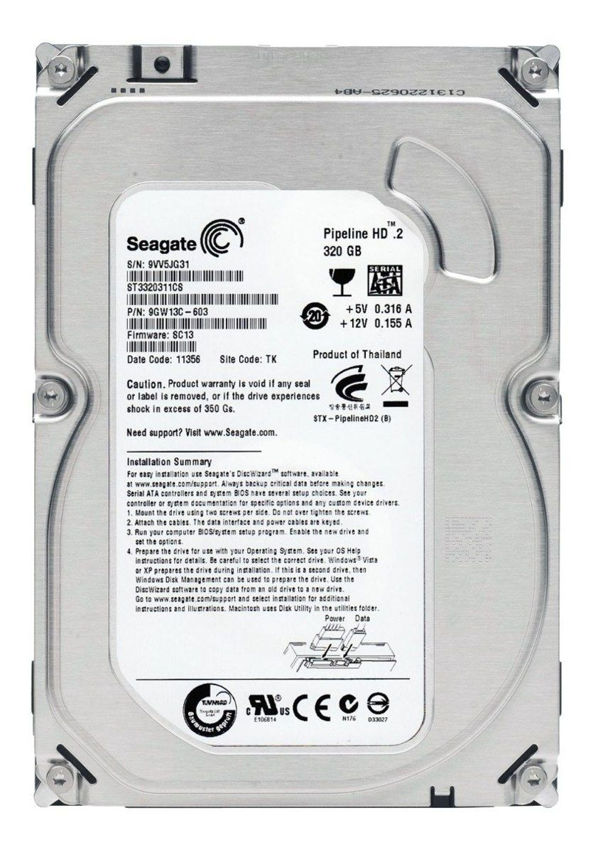 HD NOTEBOOK | SATA | SEAGATE | 320GB | S/N